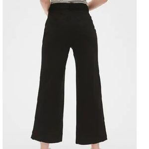 GAP Pants - NWT High Rise Wide Leg Crop Chinos 4T BLack c482